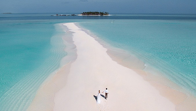 Celebrating wedding in Private Sandbank Wedding style