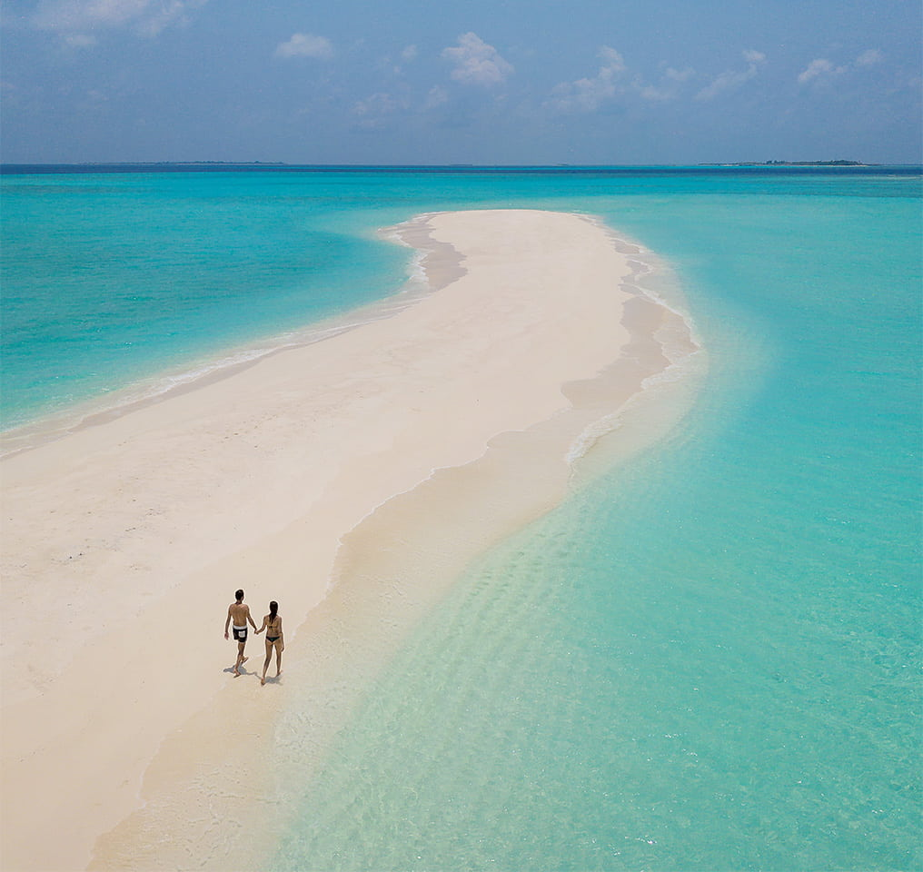 Sandbank at Fushifaru Maldives