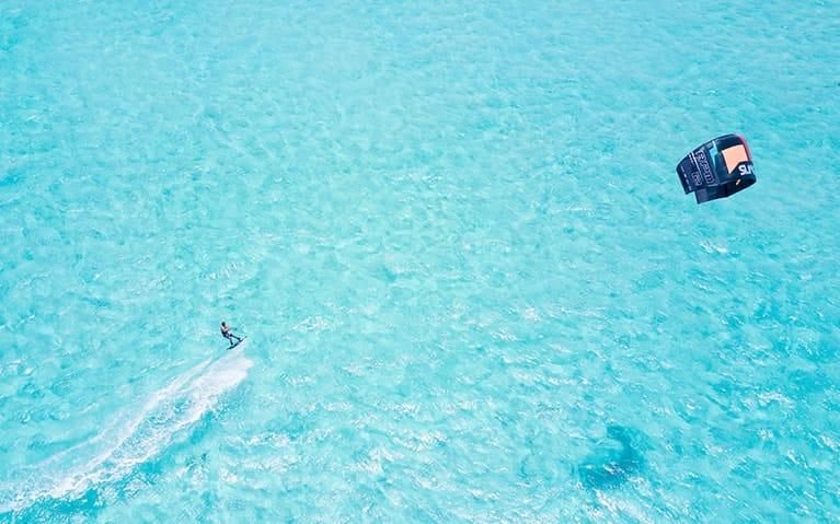 Kite Surfing at Fushifaru Maldives