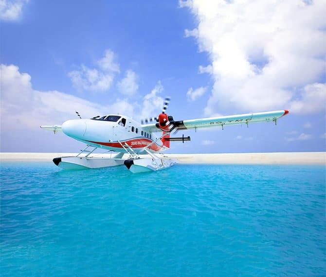 Seaplane Transfer at Fushifaru Maldives