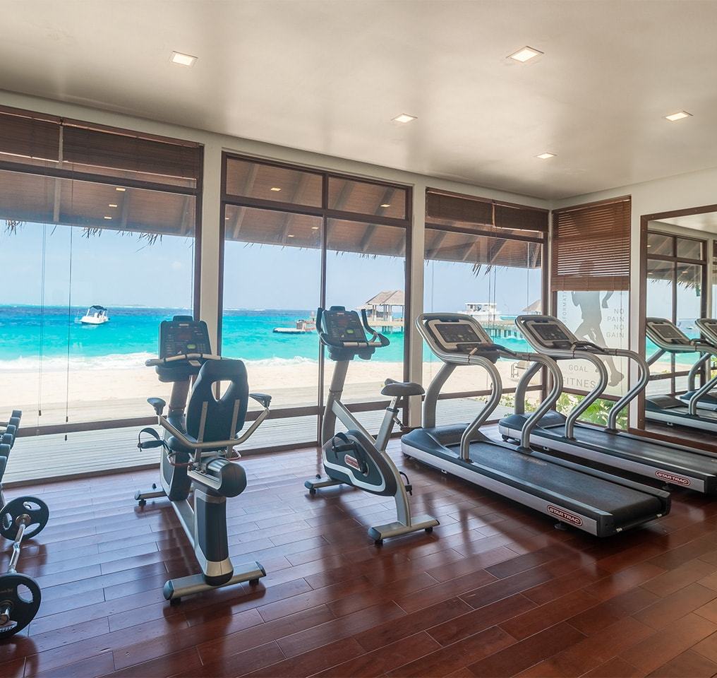 Gym at Fushifaru Maldives