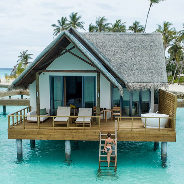 Jacuzzi water villa at Fushifaru Maldives