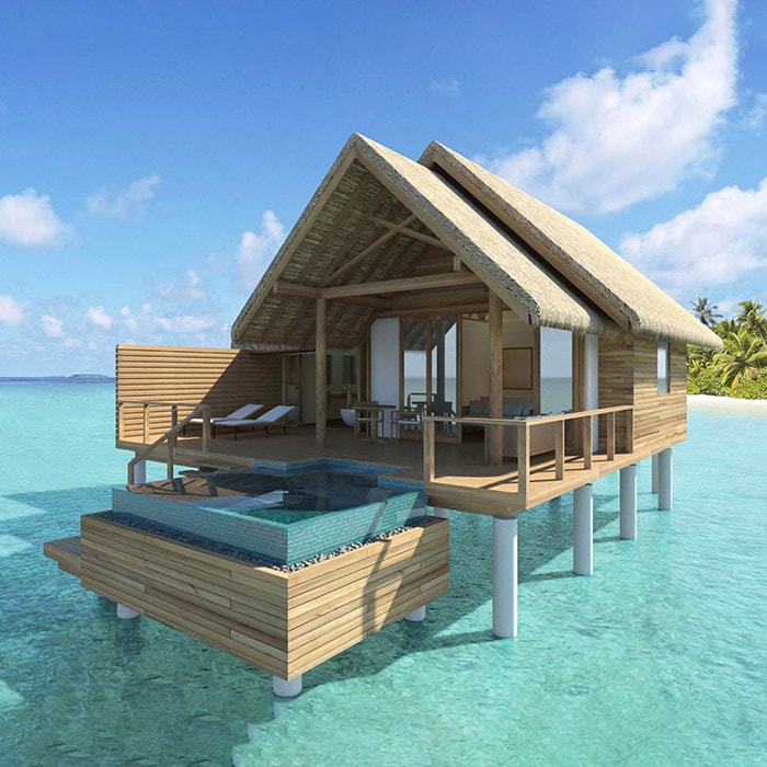 Premium Water villa with private pool at the Fushifaru Maldives Resort